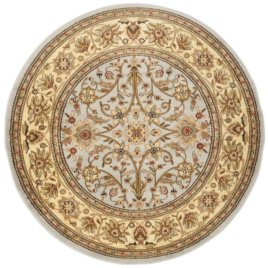 Safavieh Lyndhurst Gray/Beige Round Indoor Machine-Made Oriental Area Rug (Common: 6 x 6; Actual: 6-ft W x 6-ft L x 6-ft Dia)
