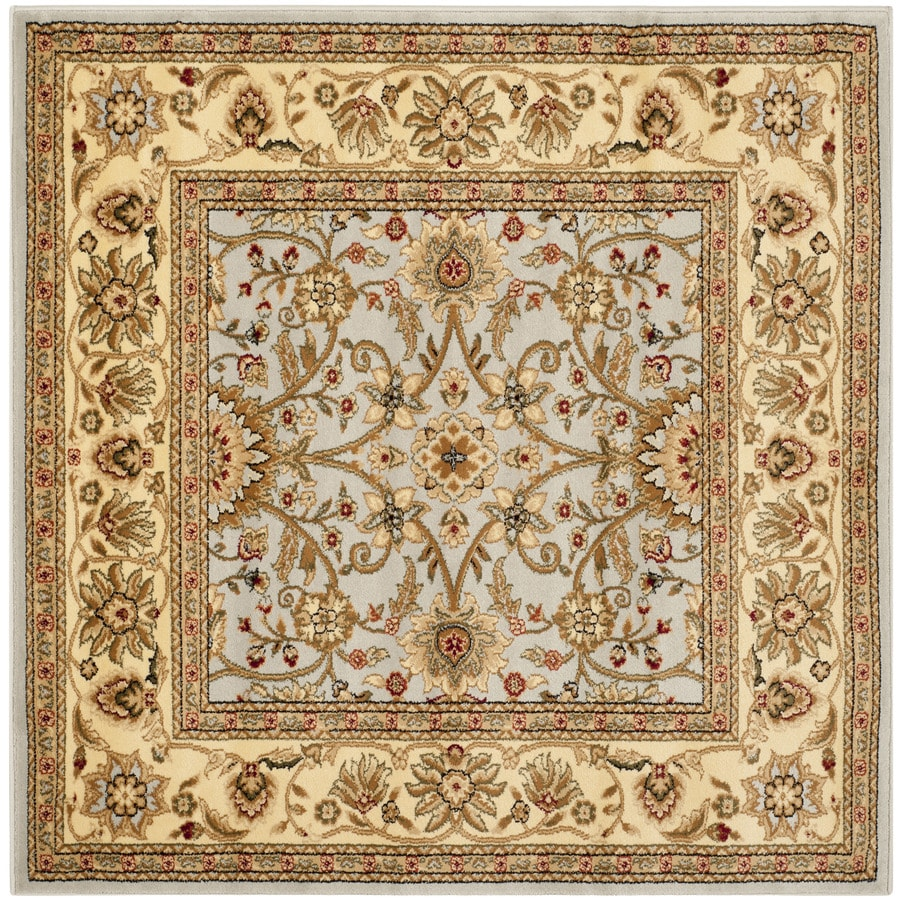 Safavieh Lyndhurst Sarouk Gray/Beige Square Indoor Machine-made Oriental Area Rug (Common: 6 x 6; Actual: 6-ft W x 6-ft L)