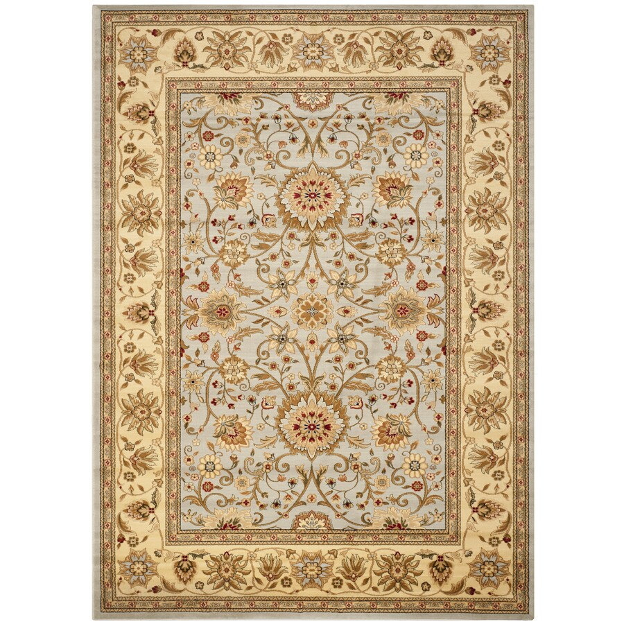 Safavieh Lyndhurst Sarouk Gray/Beige Indoor Oriental Area Rug (Common: 8 x 11; Actual: 8-ft W x 11-ft L)