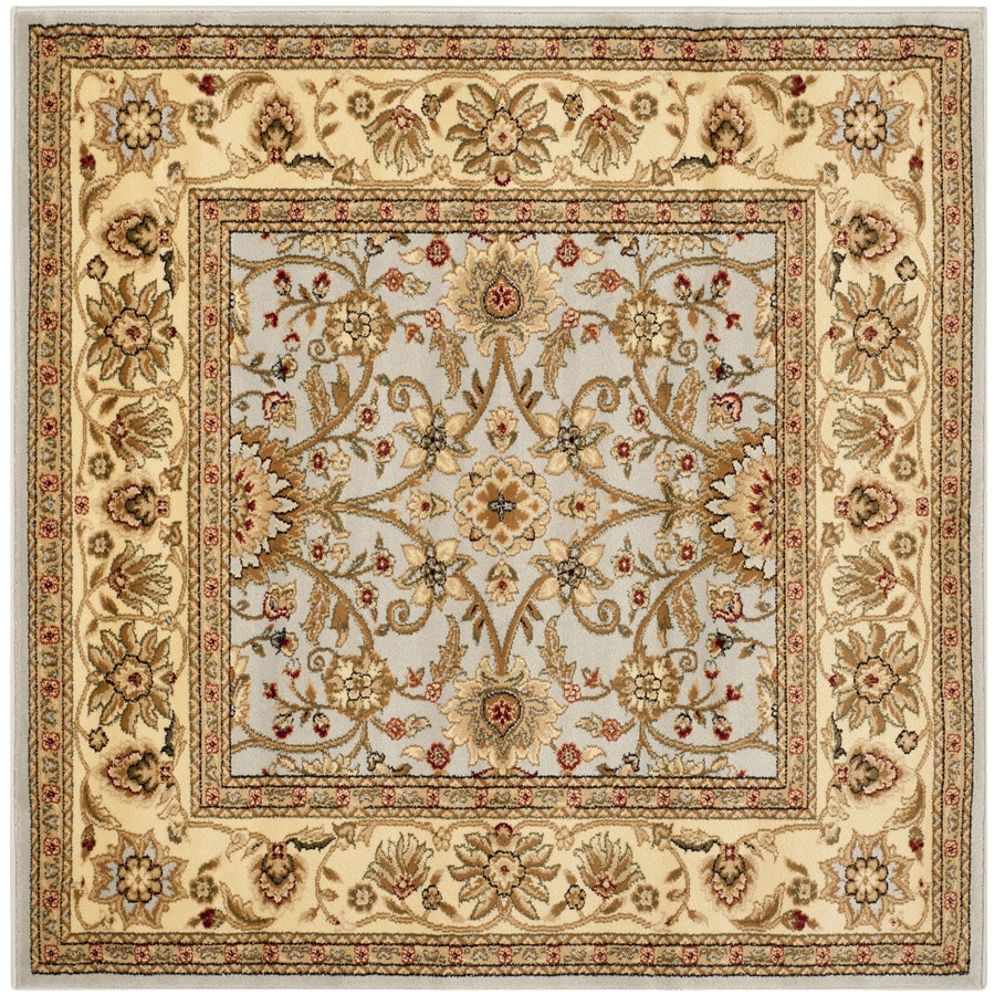 Safavieh Lyndhurst Sarouk Gray/Beige Square Indoor Machine-made Oriental Area Rug (Common: 8 x 8; Actual: 8-ft W x 8-ft L)