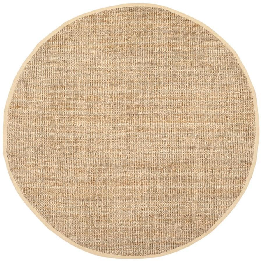 Safavieh Natural Fiber Antilles Natural Round Indoor Handcrafted Coastal Area Rug (Common: 7 x 7; Actual: 7-ft W x 7-ft L x 7-ft dia)
