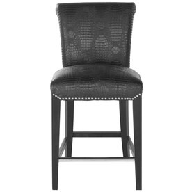 Safavieh Seth Modern Black Croc Counter StoolShop Bar Stools at Lowes com. Fabric Covered Counter Height Chairs. Home Design Ideas