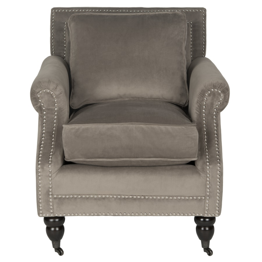 Safavieh Karsen Modern Mushroom Taupe Linen Accent Chair