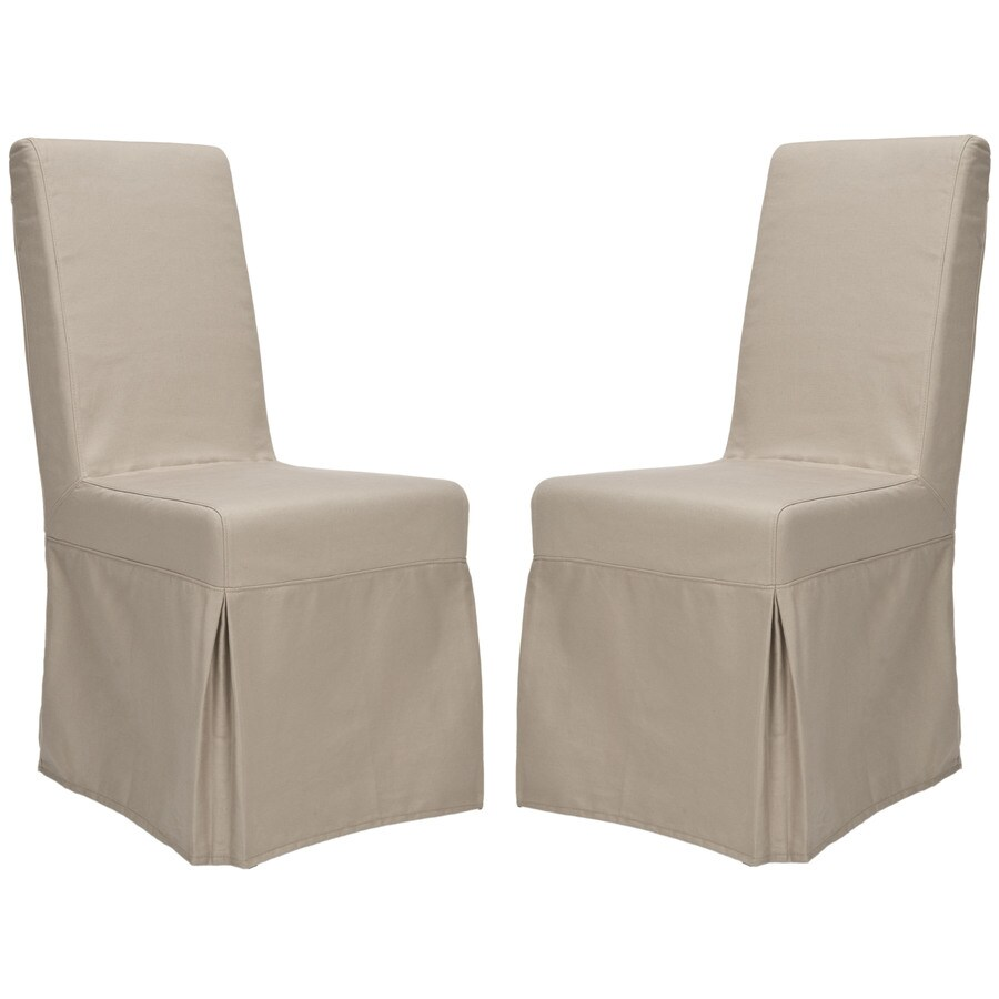 Shop safavieh set of 2 adrianna side chairs at lowescom for Armchair side covers
