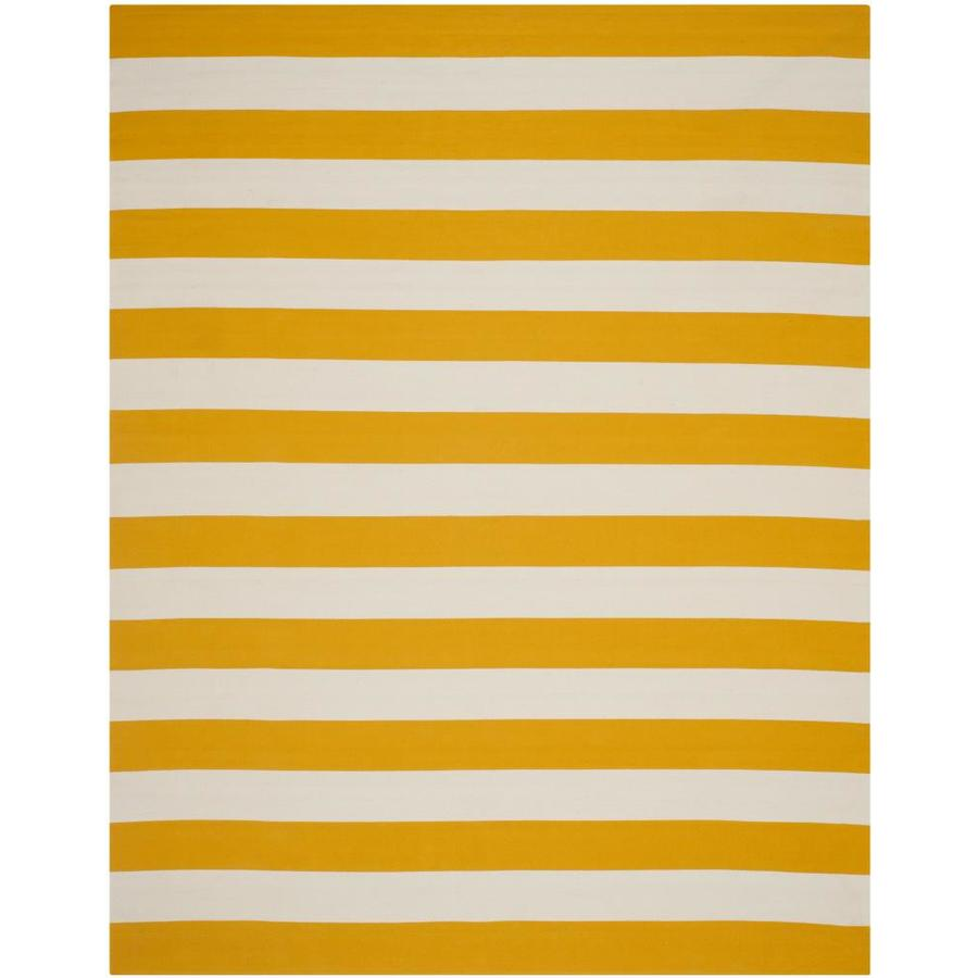 Safavieh Montauk Maslin Yellow/Ivory Rectangular Indoor Handcrafted Coastal Area Rug (Common: 9 x 12; Actual: 9-ft W x 12-ft L)
