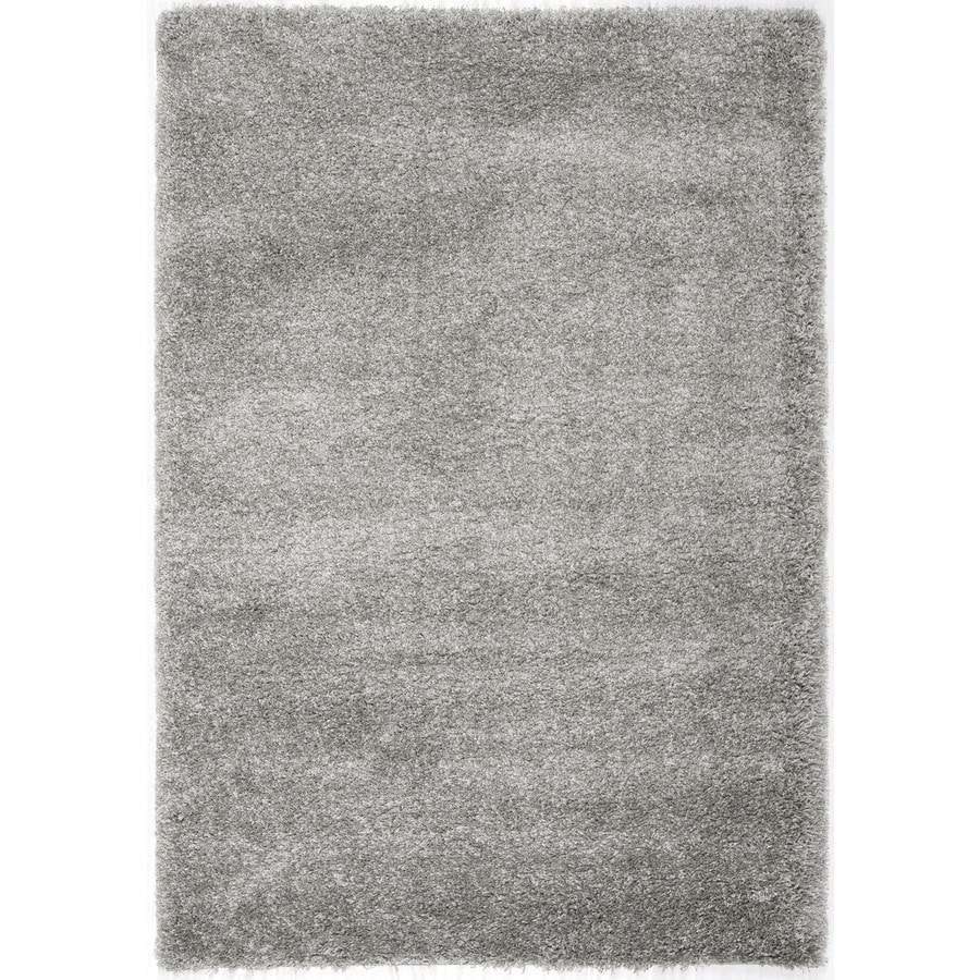 Safavieh California Shag Silver Rectangular Indoor Machine-Made Area Rug (Common: 5 x 7; Actual: 63-in W x 90-in L x 0.75-ft Dia)