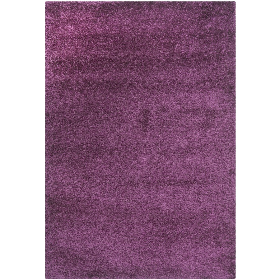 Safavieh California Shag Purple Rectangular Indoor Machine-Made Area Rug (Common: 4 x 6; Actual: 4-ft W x 6-ft L)