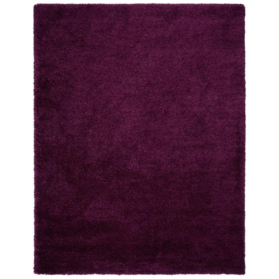Safavieh California Shag Purple Rectangular Indoor Machine-Made Area Rug (Common: 8 x 10; Actual: 8-ft W x 10-ft L)