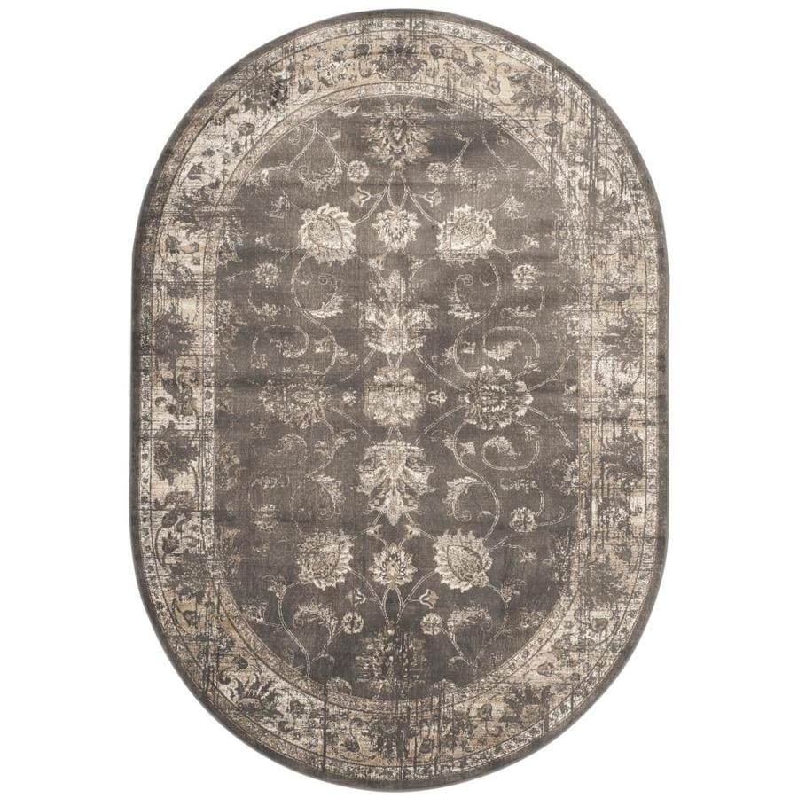 Safavieh Vintage Mosed Soft Anthracite Oval Indoor Area