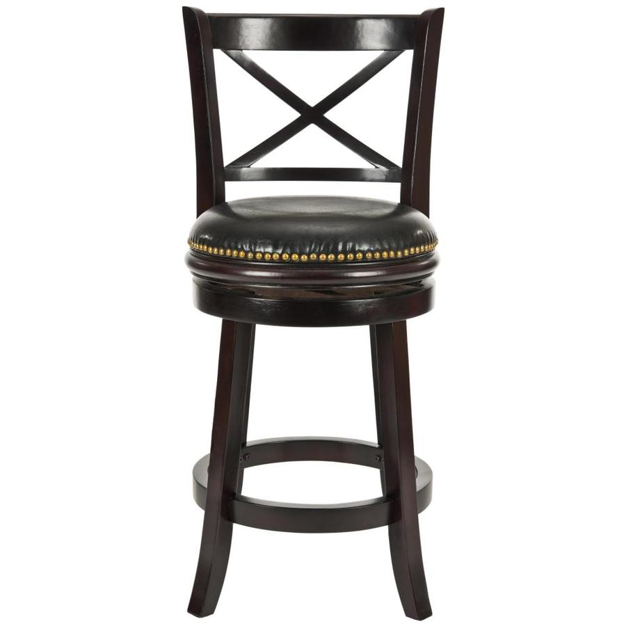 Safavieh Fox Brown/Black 24-in Counter Stool (22-in to 26-in)