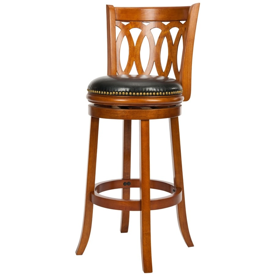 Safavieh Fox Collection Brown/Black 29-in Bar Stool