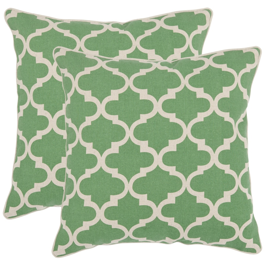 Safavieh Suzy 2-Piece 18-in W x 18-in L Green Indoor Decorative Pillow