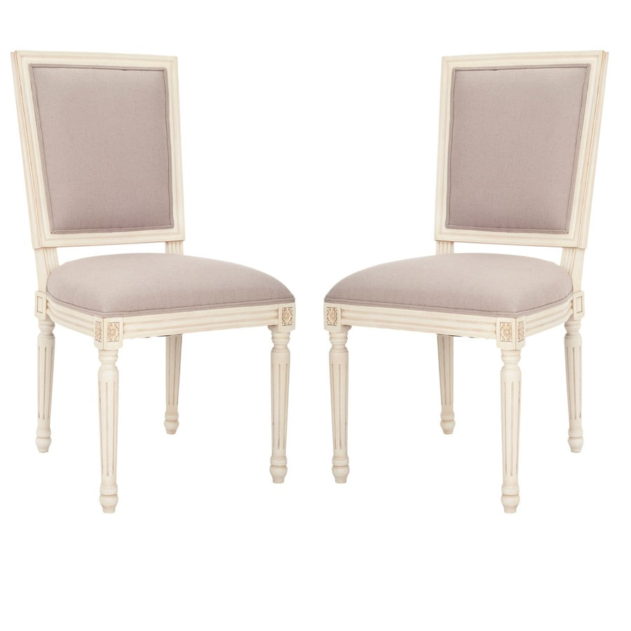 Safavieh Set of 2 Mercer Beige Gaming Accent Chairs