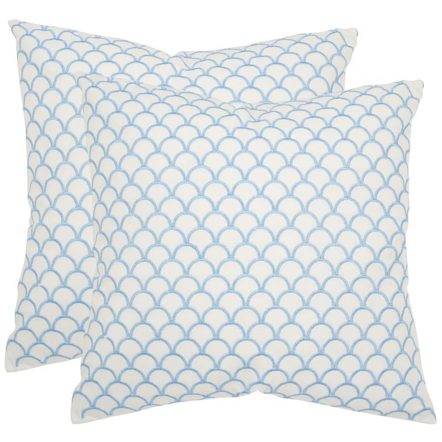 Safavieh Nikki 2-Piece 18-in W x 18-in L Blue Square Indoor Decorative Pillow