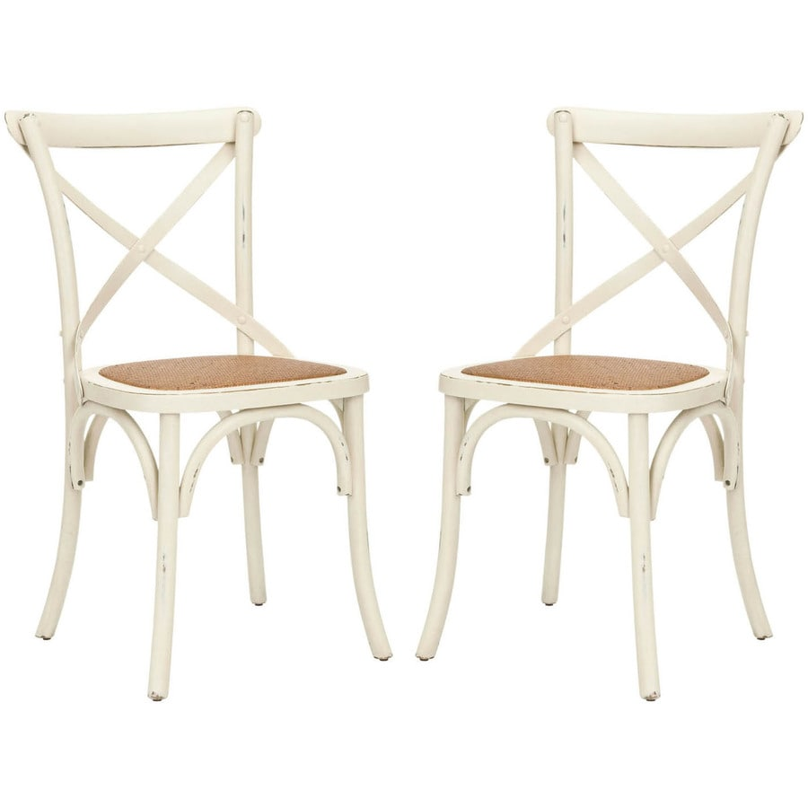 Safavieh Set of 2 Franklin Contemporary Tan Side Chairs