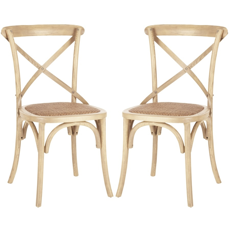 Safavieh Set of 2 American Home Weathered Oak Side Chairs
