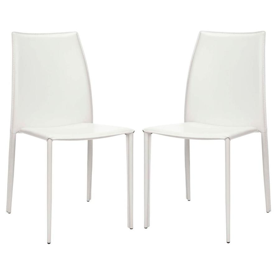 Safavieh Set of 2 Korbin Casual White Accent Chairs