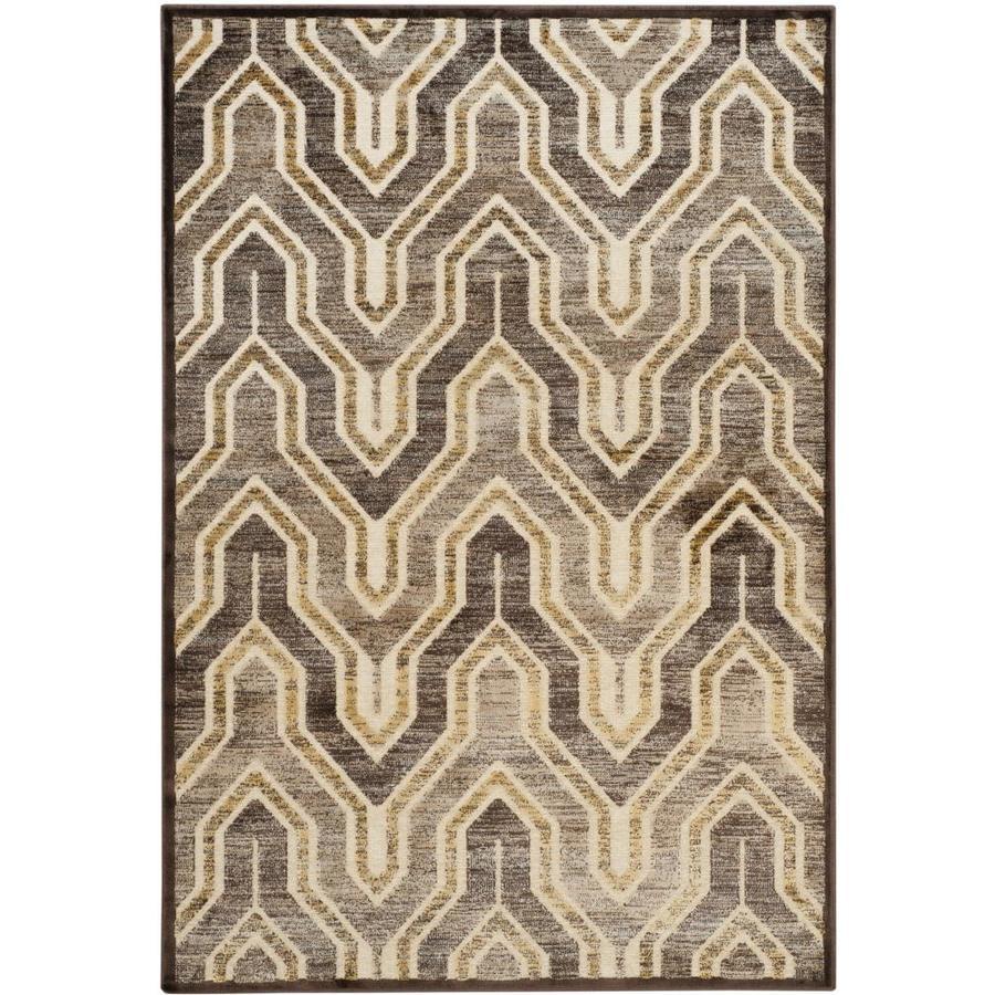 Safavieh Paradise Jasper Crme/Brown Indoor Distressed Area Rug (Common: 4 x 6; Actual: 4-ft W x 5.6-ft L)