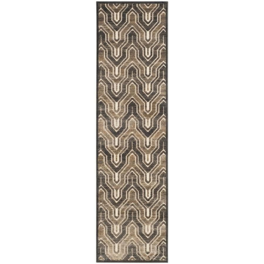 Safavieh Paradise Jasper Soft Anthracite/Cream Rectangular Indoor Machine-made Distressed Runner (Common: 2 x 8; Actual: 2.167-ft W x 8-ft L)