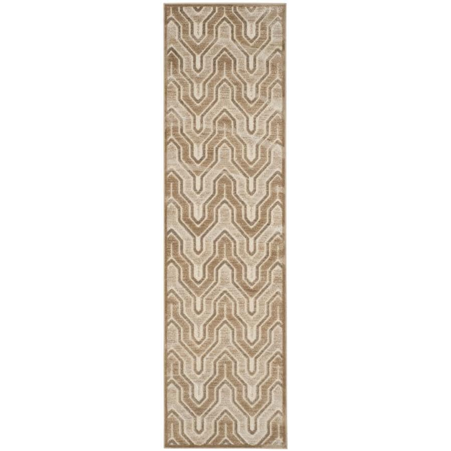 Safavieh Paradise Jasper Caramel/Cream Indoor Distressed Runner (Common: 2 x 8; Actual: 2.2-ft W x 8-ft L)