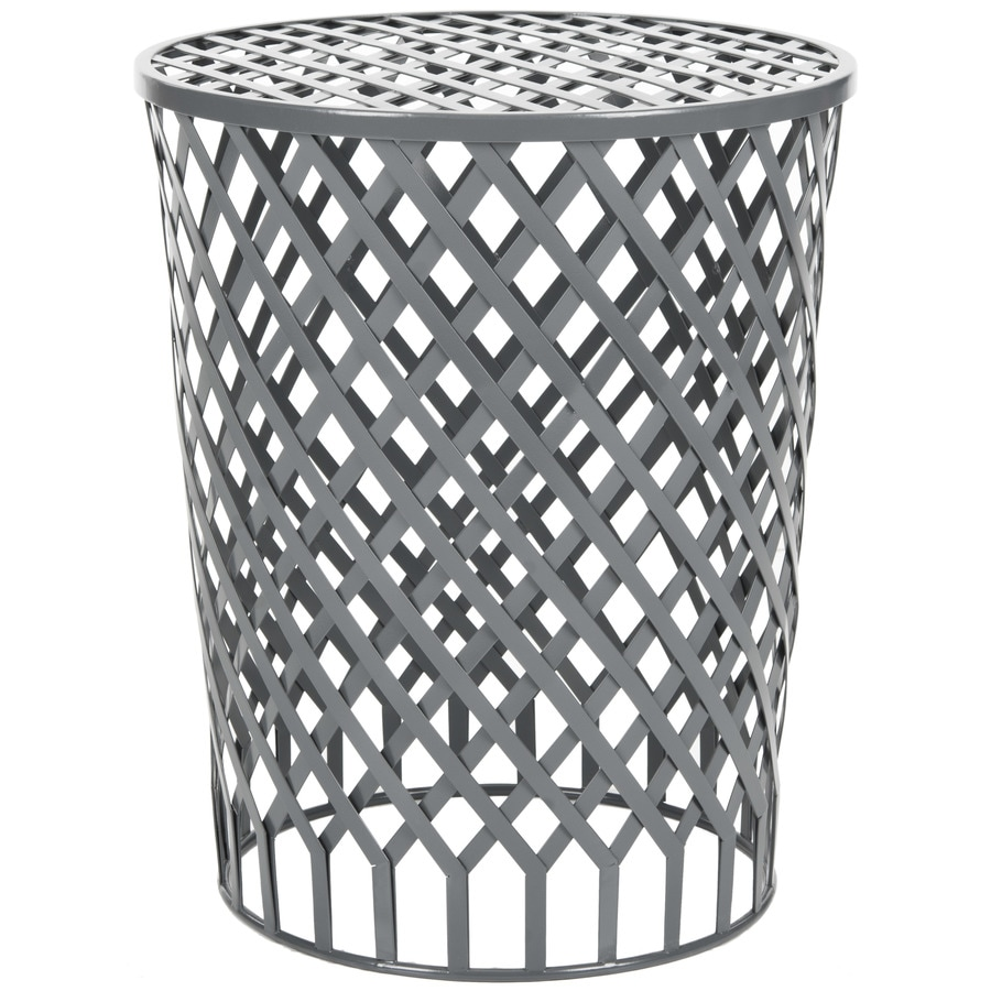Safavieh Fox Grey Epoxy Round End Table