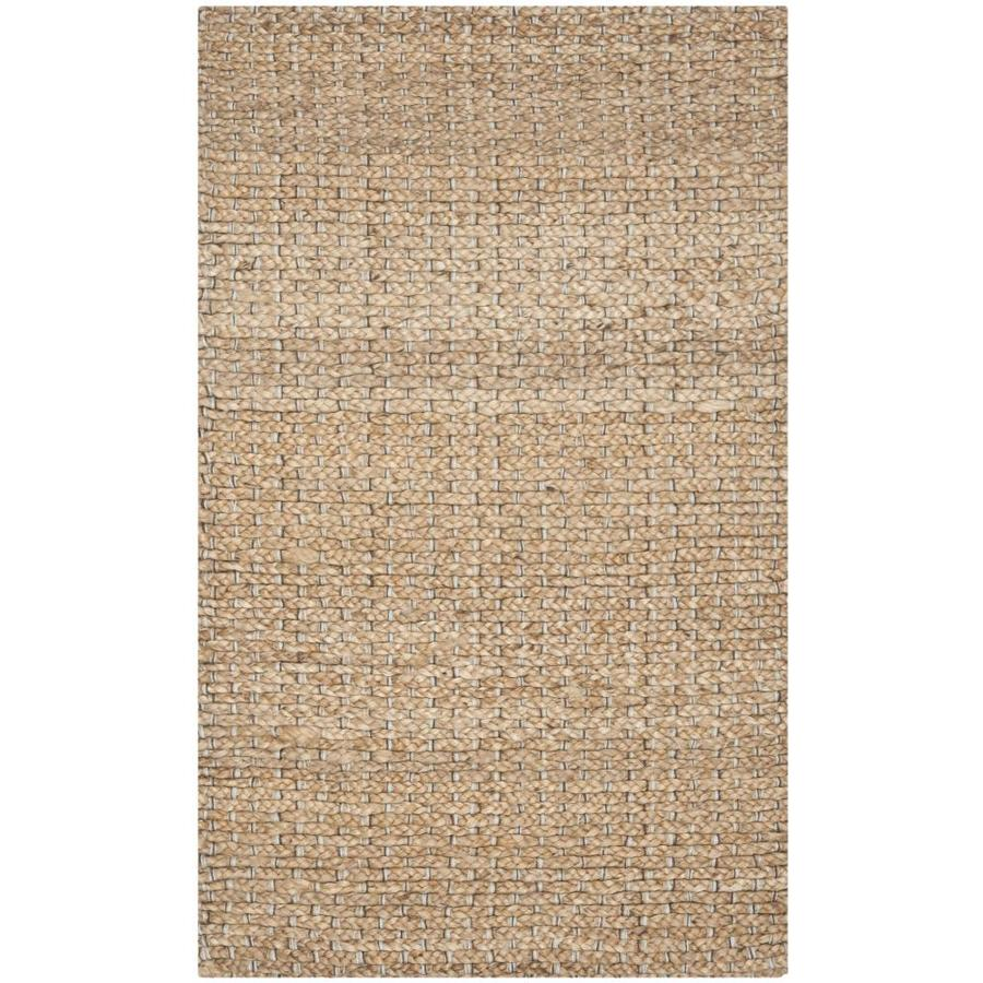 Safavieh Natural Fiber Cove Light Blue/Natural Rectangular Indoor Handcrafted Coastal Throw Rug (Common: 2 x 4; Actual: 2.5-ft W x 4-ft)
