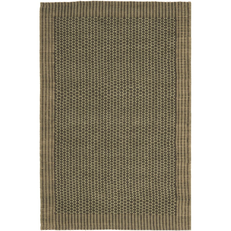 Safavieh Natural Fiber Macari 4 X 6 Charcoal Green Stripe Coastal Handcrafted Area Rug In The Rugs Department At Lowes Com