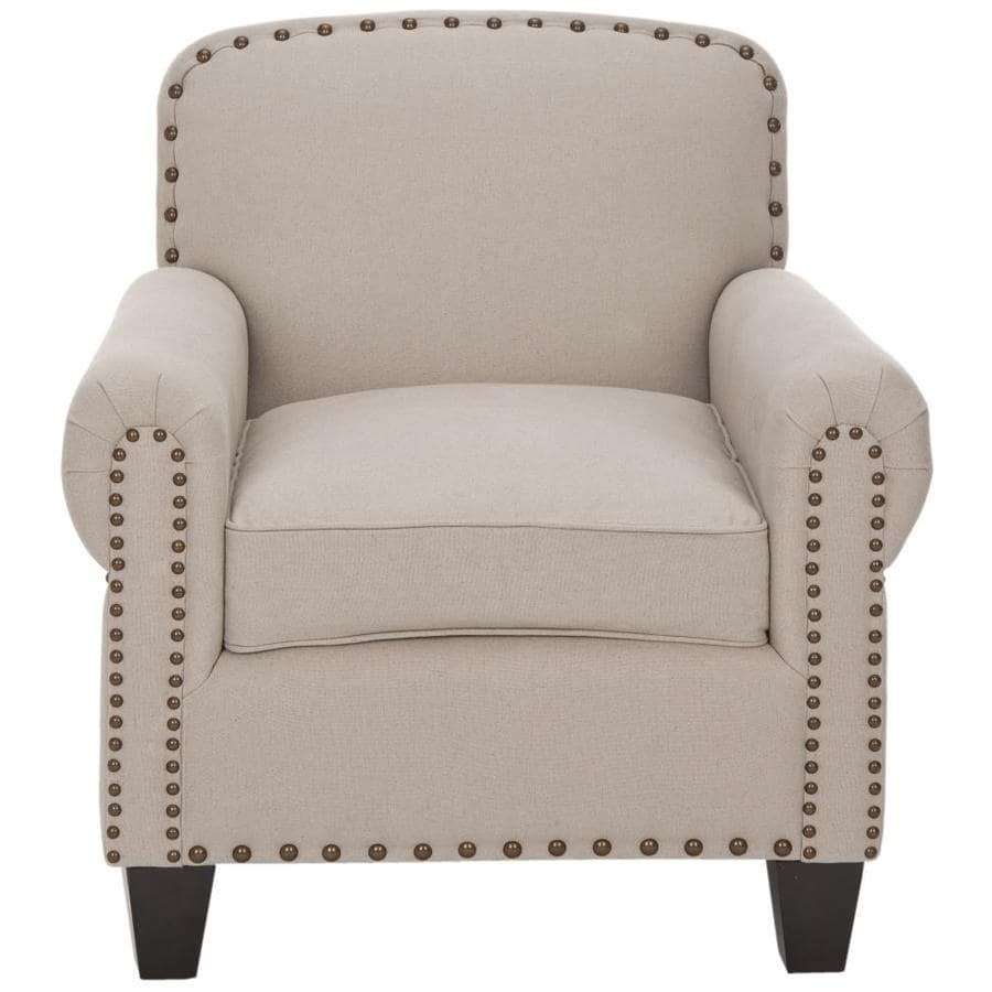 Safavieh Abigail Casual Taupe Linen Accent Chair