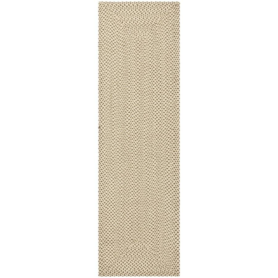 Safavieh Braided Beige/Brown Rectangular Indoor Braided Runner (Common: 2 x 14; Actual: 2.25-ft W x 14-ft L)