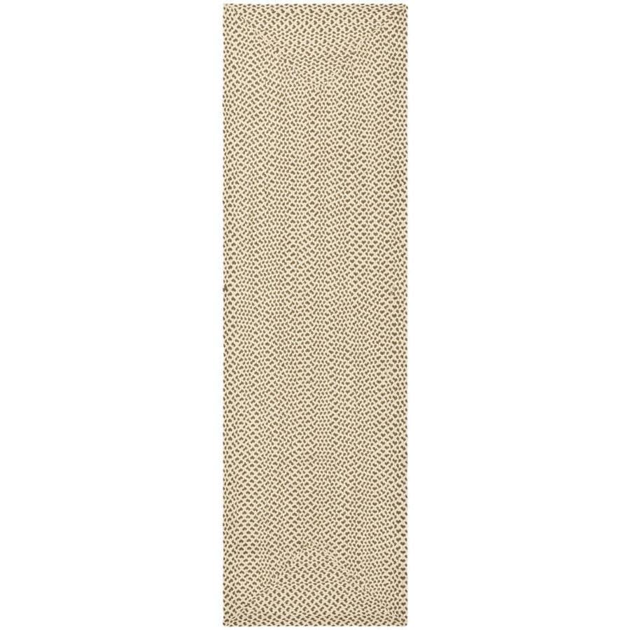 Safavieh Braided Beige/Brown Rectangular Indoor Handcrafted Coastal Runner (Common: 2.3 x 6; Actual: 2.25-ft W x 6-ft L)