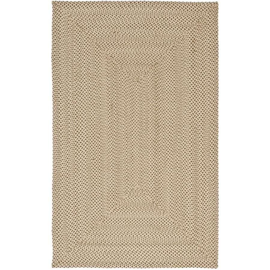 Safavieh Braided Salem Beige/Brown Rectangular Indoor Handcrafted Coastal Area Rug (Common: 6 x 9; Actual: 6-ft W x 9-ft L)