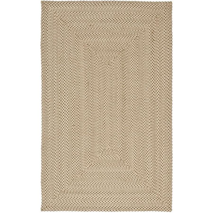 Safavieh Braided Beige/Brown Rectangular Indoor Handcrafted Coastal Area Rug (Common: 9 x 12; Actual: 9-ft W x 12-ft L x 0-ft Dia)