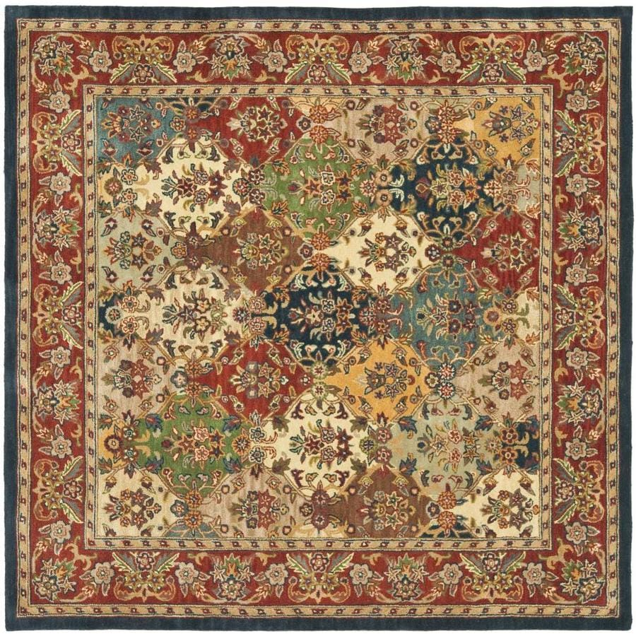 Safavieh Heritage Abaya Multi/Burgundy Square Indoor Handcrafted Oriental Area Rug (Common: 10 x 10; Actual: 10-ft W x 10-ft L)