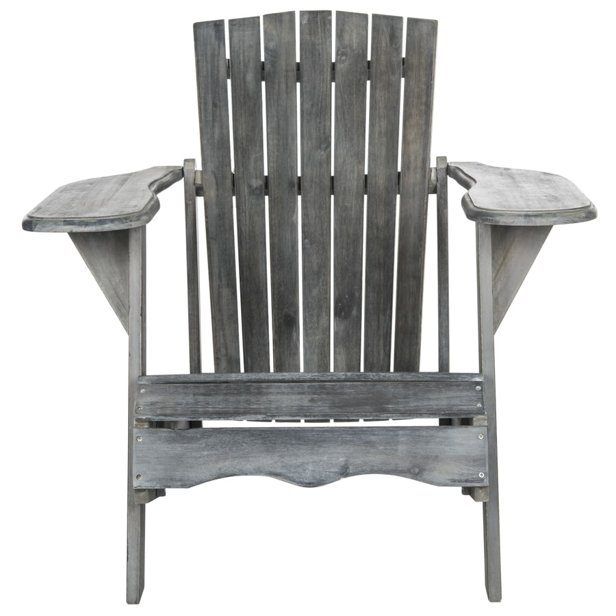 Safavieh White Acacia Patio Adirondack Chair