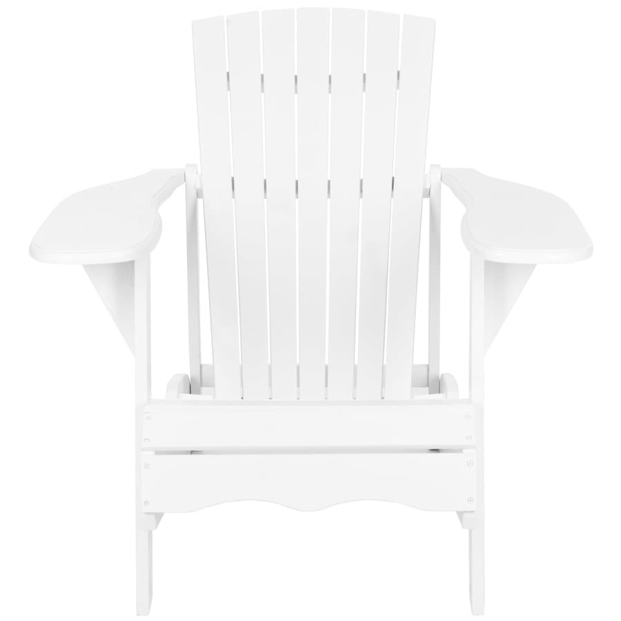 Safavieh Mopani Chair 1-Count White Wood Patio Adirondack Chair with