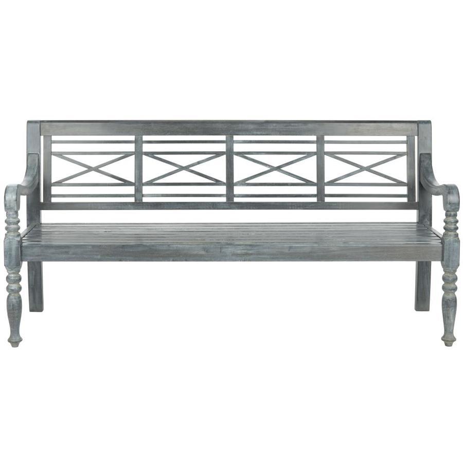 Safavieh Karoo 70.1-in W x 23-in L Ash Gray Patio Bench