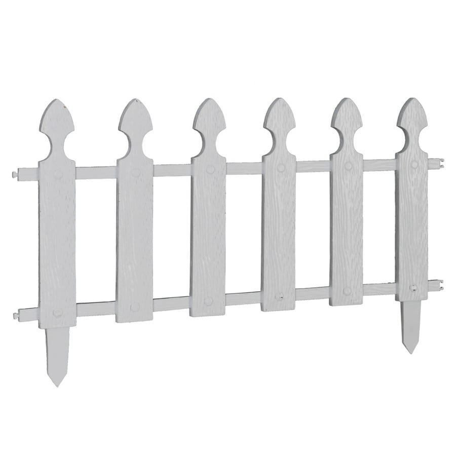 Garden Treasures (Common: 0.5-in x 22-in x 12-in; Actual: 0.47-in x 22.8-in x 12.7-in) White Polyresin Garden Fence Panel