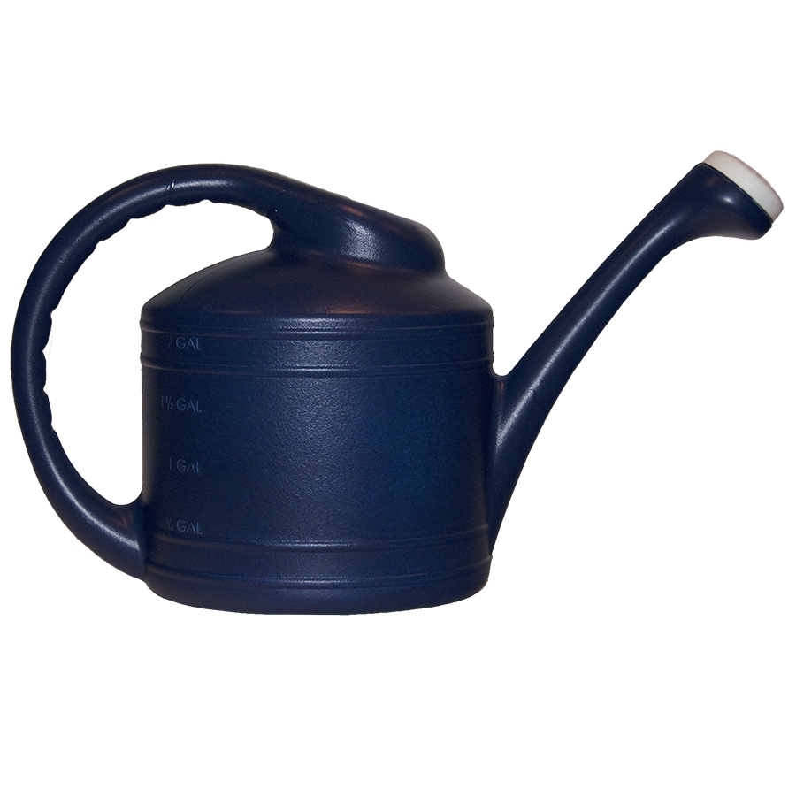Shop Garden Treasures 2 Gallon Dark Blue Resin Watering Can At