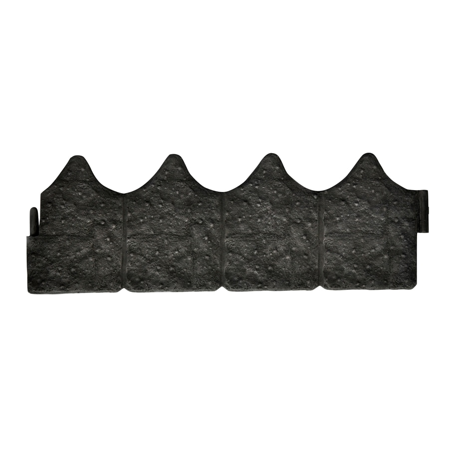 Blue Hawk 1.345-ft Stone/Rough Plastic Landscape Edging Section