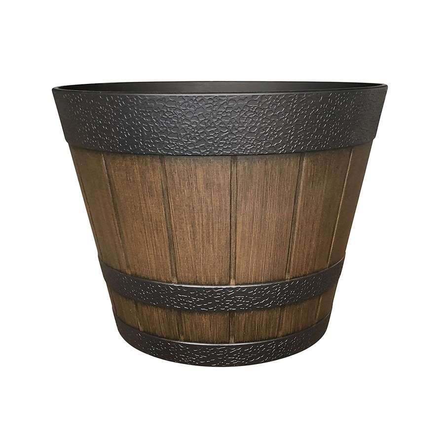Brown Household Essentials Resin Wicker Barrel Table