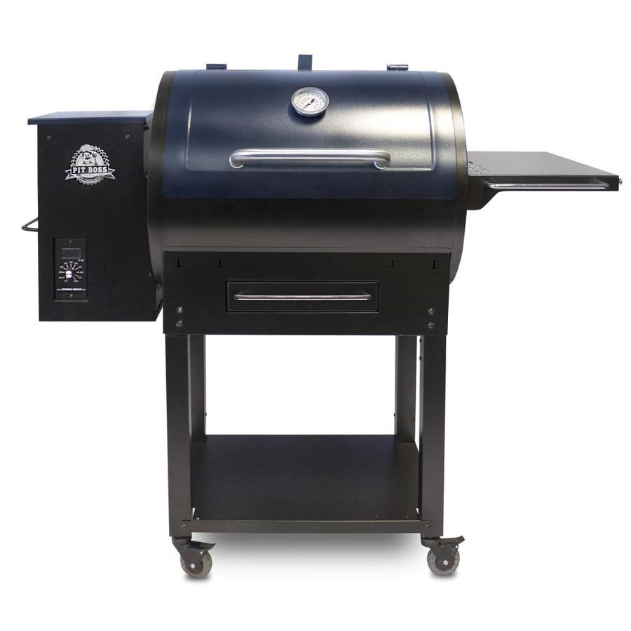 Pit Boss 727 Sq In Blue Pellet Grill At Lowes Com