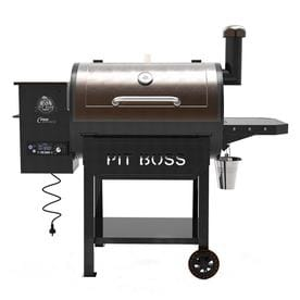 Pit Boss Pro Series 820 Sq In Black And Chestnut Pellet Grill