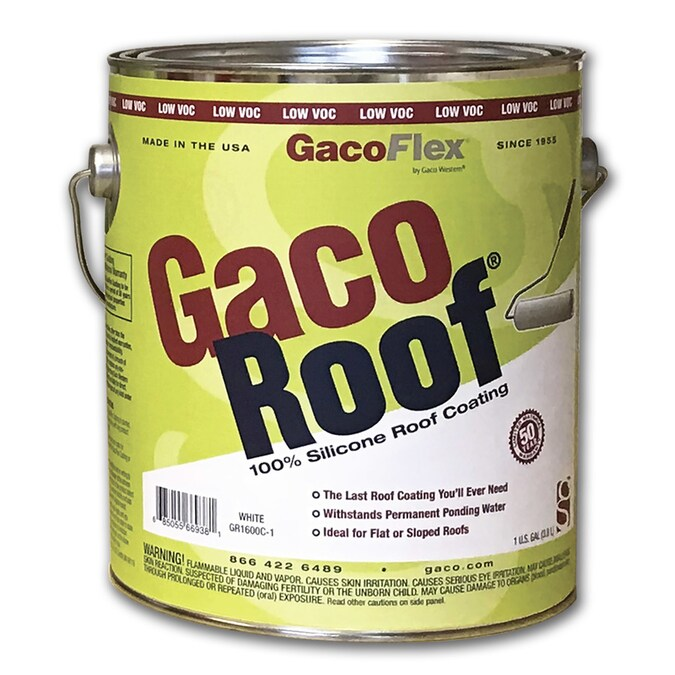 Gaco 1 Gallon Silicone Reflective Roof Coating 50 Year Limited Warranty In The Reflective Roof Coatings Department At Lowes Com