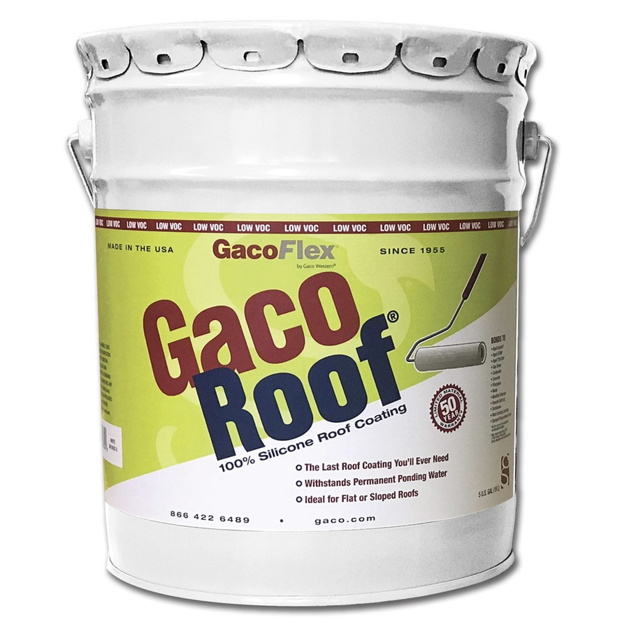 Gaco 5-Gallon Silicone Reflective Roof Coating (50-Year Limited Warranty)