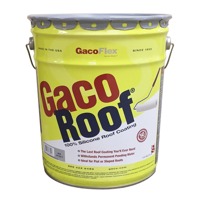 Gaco 5 Gallon Silicone Reflective Roof Coating 50 Year Limited Warranty In The Reflective Roof Coatings Department At Lowes Com