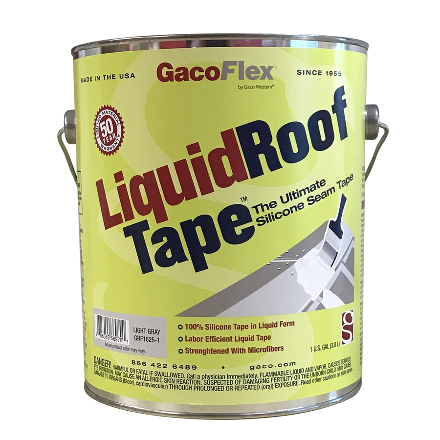 Gaco LiquidRooftape 1-Gallon Silicone Reflective Roof Coating (50-Year Limited Warranty)