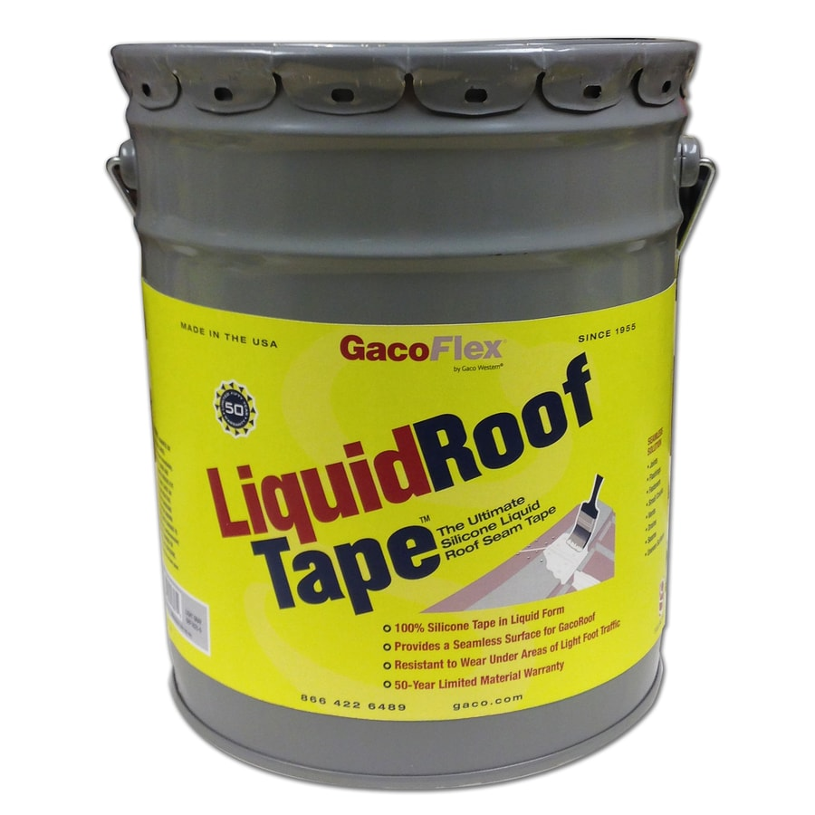 Shop Gaco Liquidrooftape 5 Gallon Silicone Reflective Roof