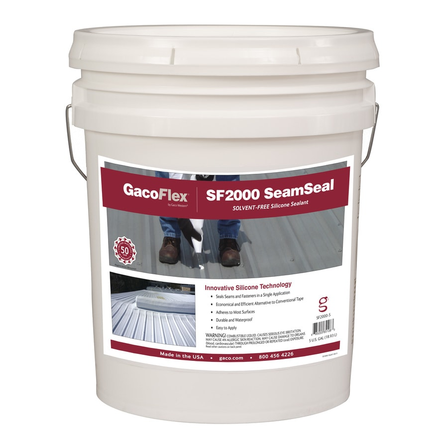 Gaco SeamSeal 5-Gallon Silicone Reflective Roof Coating (50-Year Limited Warranty)