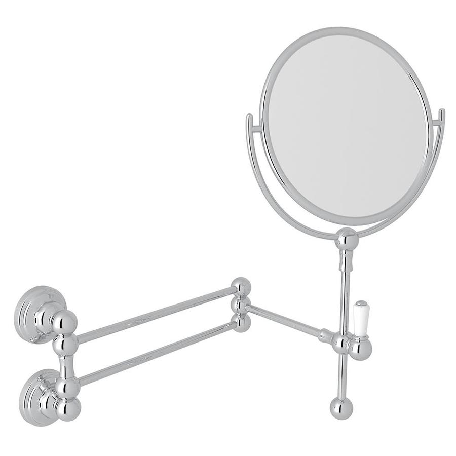 Rohl perrin and rowe polished chrome round bathroom mirror at Polished chrome bathroom mirrors