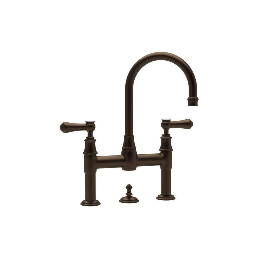 Rohl Perrin And Rowe English Bronze 2 Handle Widespread Bathroom Sink Faucet